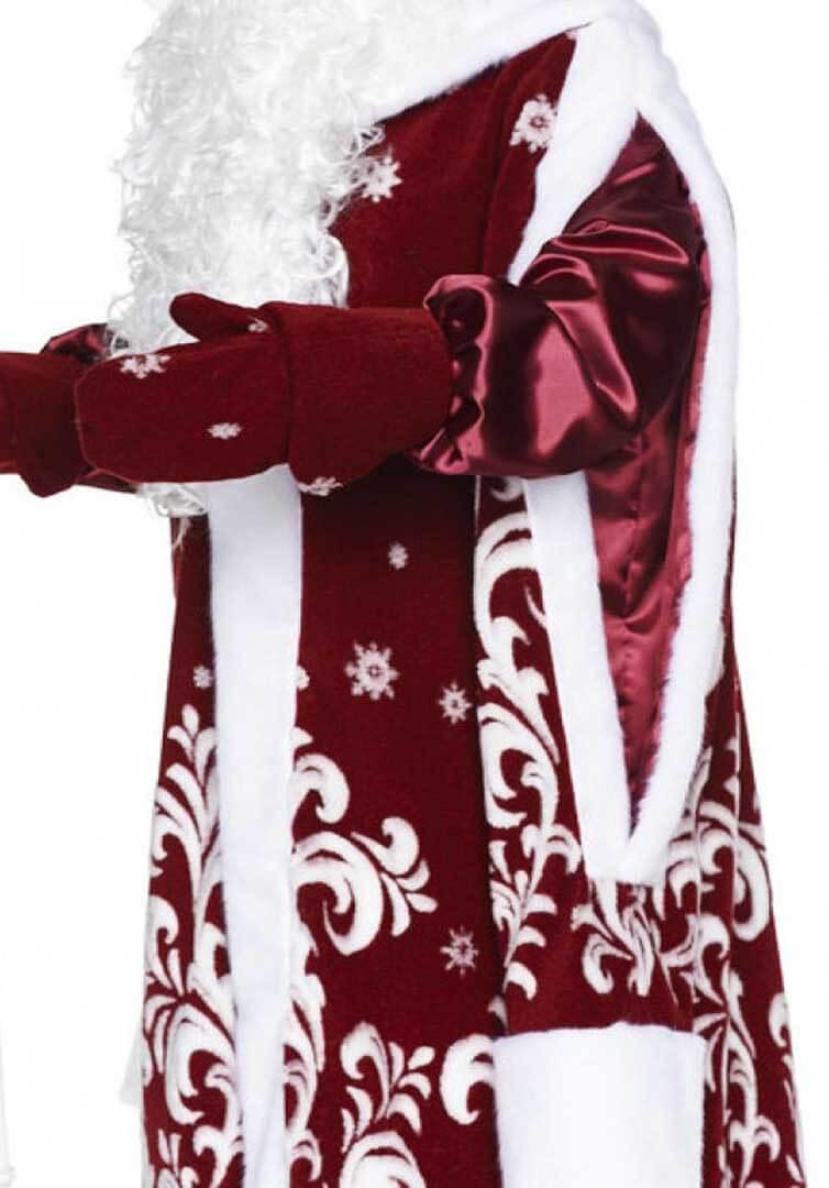 Костюм Деда Мороза с двойными рукавами.