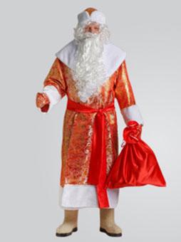 Дед Мороз Золотой Костюм Деда Мороза Золотой Парчовый